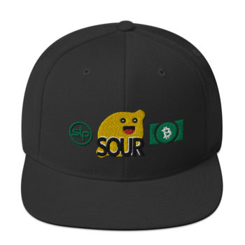 SOUR black snapback hat