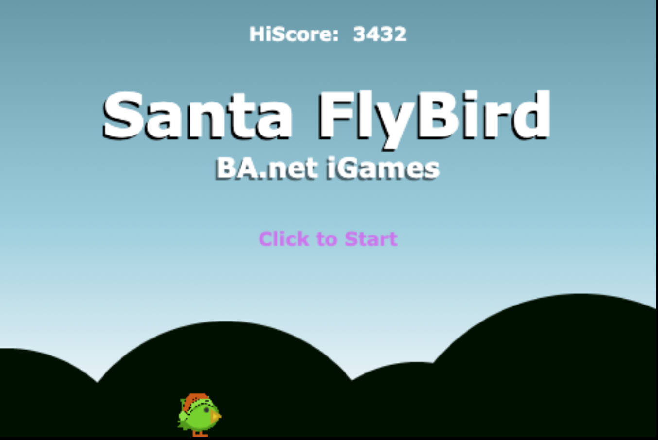 SantaFlyBird game