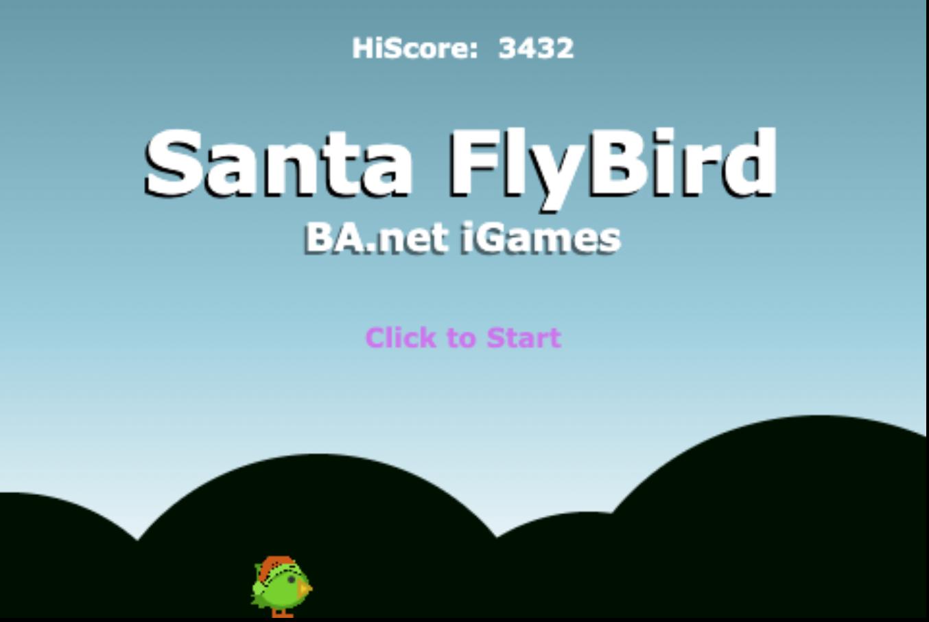SantaFlyBird game