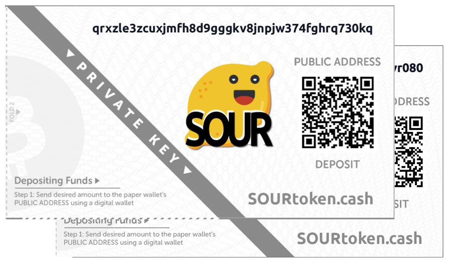 SOUR paper wallet